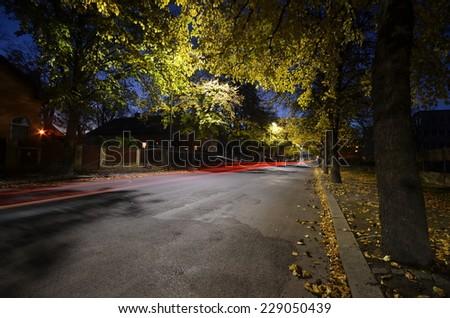 city night - stock photo