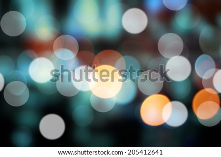 City night lights. Filtered color. - stock photo