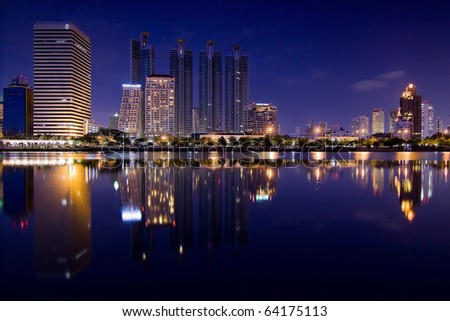 City night 's reflection