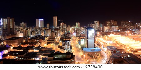 city night view of Durban, South Africa - stock photo