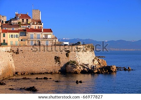 City of Antibes, south of France - stock photo