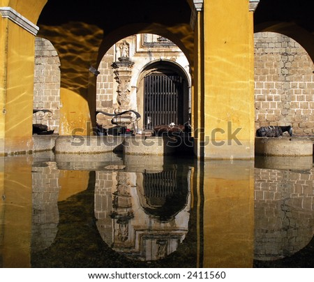 city of antigua in Guatemala, - stock photo