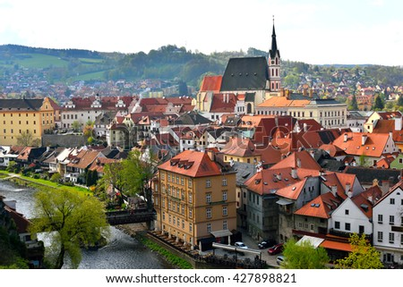 City of Cesky Krumlov, Czech Republic