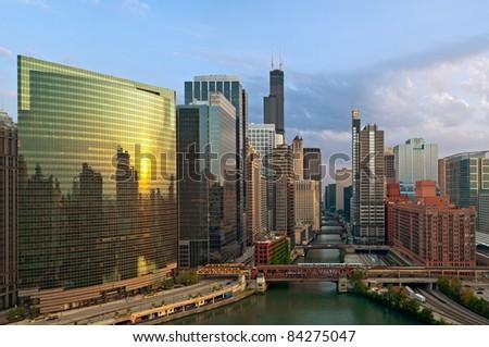 City of Chicago. - stock photo
