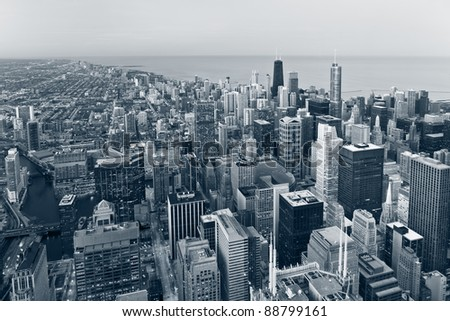 City of Chicago. - stock photo