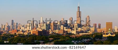 City of Chicago panorama - stock photo