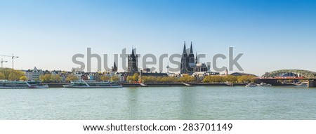 City of cologne with Cathedral and groos st. martin