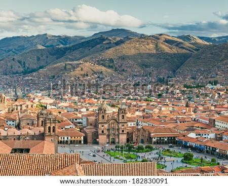 City of Cuzco in Peru, South America - stock photo
