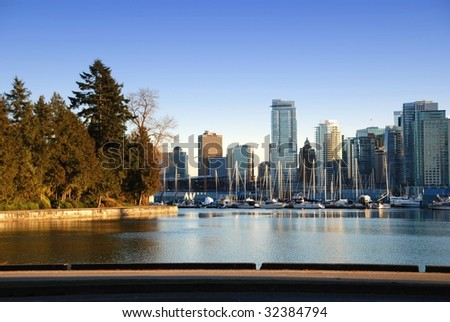 City of downtown Vancouver, English Bay