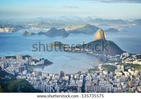 City of dreams from above, Rio de Janeiro, Brazil - stock photo