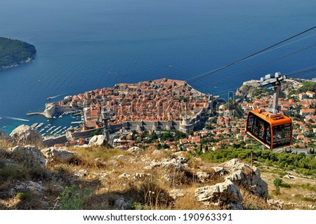 City of Dubrovnik in Croatia from above - stock photo