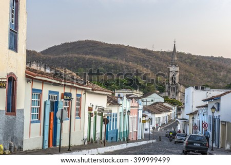 CITY OF GOIAS, BRAZIL - OCTOBER 10, 2014: Old house in the historic centre of City Of Goias on January, 2016, City Of Goias, Brazil.