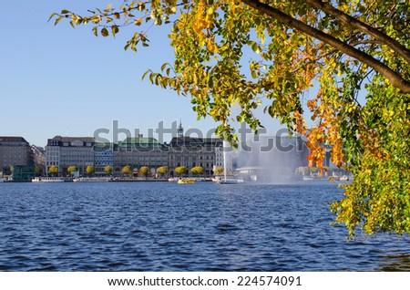 city of Hamburg (Binnenalster) - stock photo