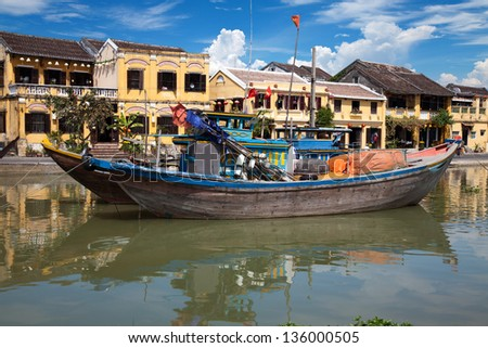 City of Hoi An in Vietnam - stock photo
