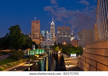 City of Indianapolis. - stock photo