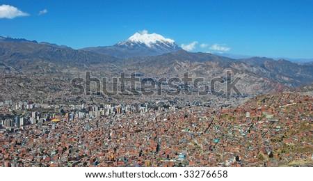 city of la paz - stock photo