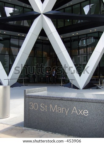 """City of London Office black at 30 St Mary Axe, known as the """"Gherkin"""" - stock photo"""