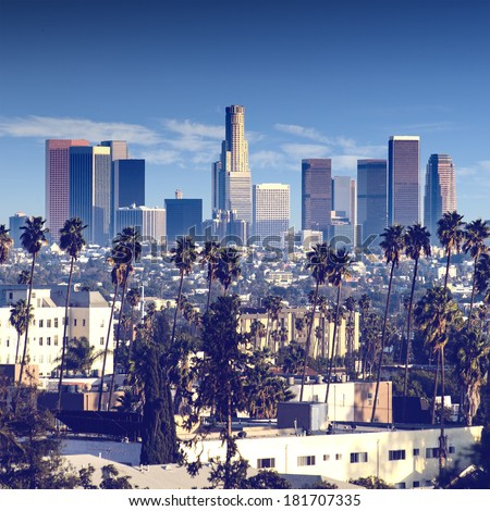 City of Los Angeles, California, USA - stock photo