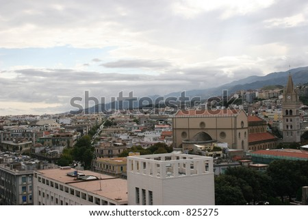 City of Messina, Italy - stock photo