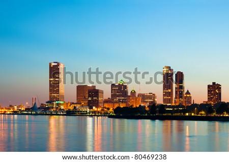 City of Milwaukee skyline. - stock photo