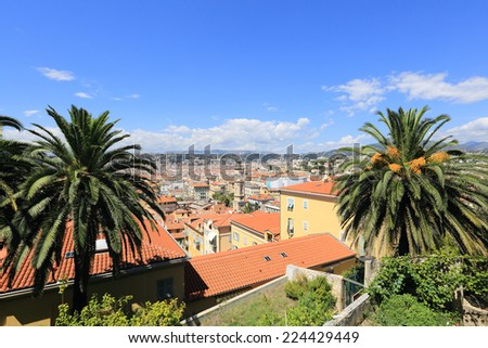 City Of Nice overview, France - stock photo