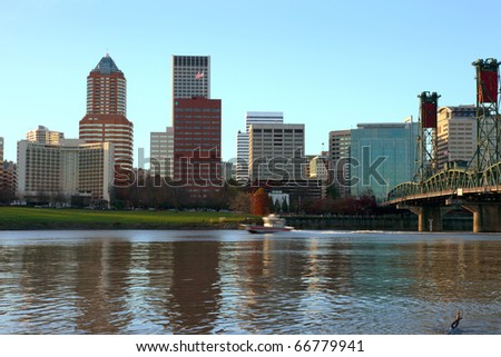 City of Portland Oregon. - stock photo