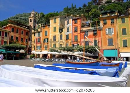 City of Portofino, north of Italy - stock photo