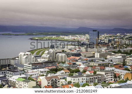 City of Reykjavik panorama, Iceland - stock photo