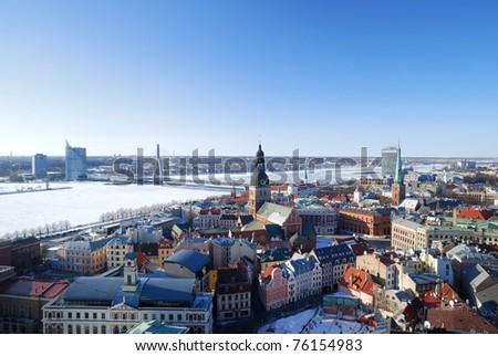 city of Riga, Latvia - stock photo
