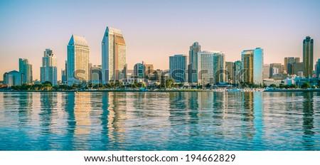 City of San Diego, Downtown Cityscape, San Diego California, USA - stock photo