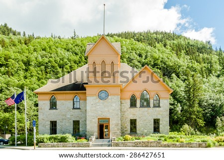 City of Skagway Museum in Alaska - stock photo
