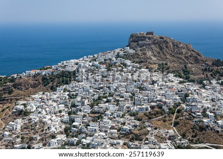 City of Skiros, Greece, oblique aerial view