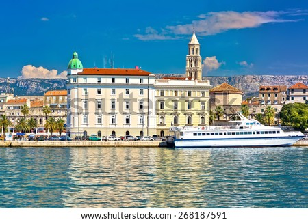 City of Split waterfront architecture view, Dalmatia, Croatia - stock photo