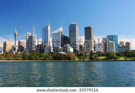 City of Sydney skyline in Australia