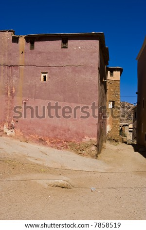 City of Tafrout, Morocco - stock photo
