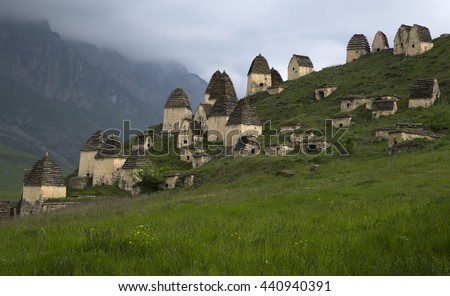City of the dead. Dargavs.North Ossetia. Russia.
