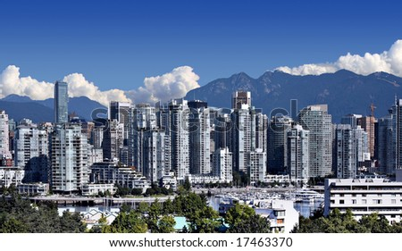 City of Vancouver, home of the 2010 Winter Olympics. - stock photo