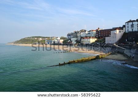 City on the coast - stock photo