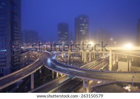 City overpass, Shanghai - stock photo