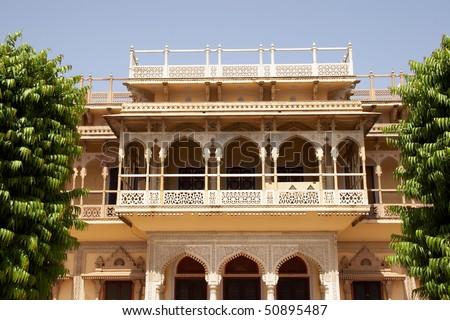 City palace entrance, Jaipur, India - stock photo