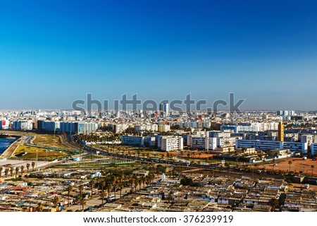 City panorama. Casablanca, Morocco.  Africa - stock photo