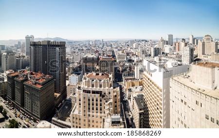 City panorama of San Francisco  - stock photo