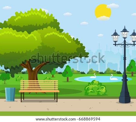 city park vector - photo #39