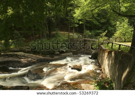 City park in Lake Luzerne, New York - stock photo
