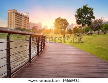 City park landscape  - stock photo