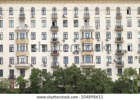 Apartment Building Front city residential building front view stock photo 104898611
