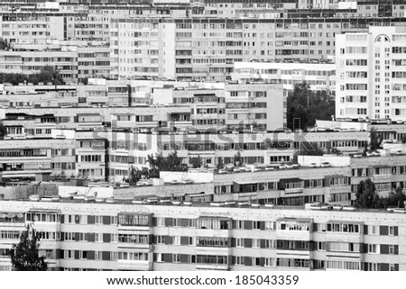 City residential district background - stock photo