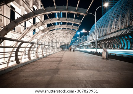 City road ironbridge of night scene - stock photo
