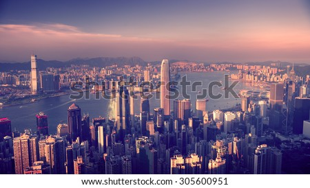 City Scape Buildings Urban Scene Concept - stock photo