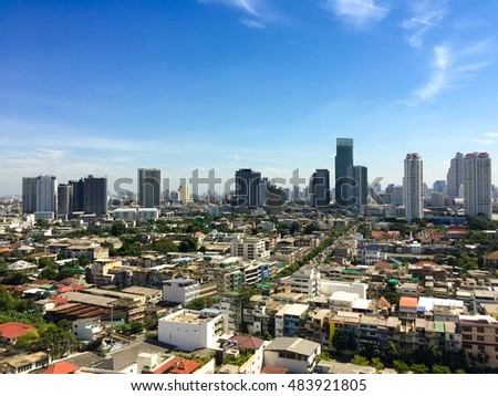 City scape in Bangkok town